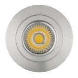 Потолочное освещение алюминия GU10 MR16 круглое фикчированное утопленное СИД Lathe (LT2112)