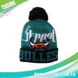 Шлемы спорта зимы вышивки акриловые связанные с верхней частью шарика (116)