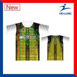 Chemise de polo sublimée par vente chaude d'impression de Healong