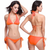 Frauen-Muster-Dreieck-Bikini-Set