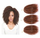 Extensión rizada azul púrpura sintética rizada del pelo del pelo T1b T1b Malibob de la torcedura del Afro de la trenza de Marley