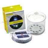 Solar portátil alimentado lectura lámpara solar inflable pequeño LED Linterna para la venta