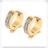 Brincos de cristal do aço inoxidável da jóia da jóia da forma (EE0380)