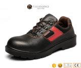Черные кожаный стальные ботинки деятельности безопасности пальца ноги для людей