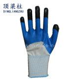 13G de nylon Handschoenen van de Veiligheid met Vinger Versterkte Nitril Met een laag bedekte Handschoenen