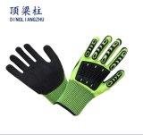 TPR Schaumgummi-Nitril-Sandy geschnittene beständige Sicherheits-Handschuhe mit Cer