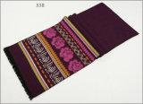 人のレディース男女兼用の可逆カシミヤ織の感じの冬の暖かい印刷の厚く編まれた編まれたスカーフ(SP819)