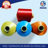 Hilados de polyester teñidos droga del hilado del color que hacen punto para tejer de los calcetines