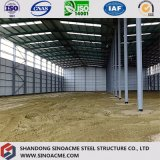 Тяжелое здание стальной структуры для промышленного завода с сенью