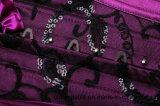 Corsé sin tirantes atractivo del corsé de la talladora de la carrocería de las mujeres con Cordón-Púrpura