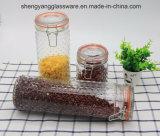 Frasco de armazenamento de alimentos com vaso de vidro grande com tampa de vidro