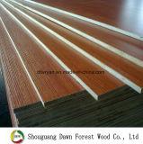 madeira compensada laminada melamina do núcleo da folhosa de 16mm
