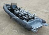 Barco de motor inflável de Aqualand 29feet 9m Rigidn/barco polícia do reforço (RIB900B)