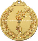 7cm Torch Gold Silver Bronze Series Medal