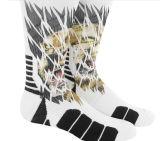 Носки людей полиэфира сублимации спорта 100% белые пустые