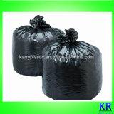 使い捨て可能なHDPEのプラスチック無駄はごみ袋を袋に入れる