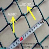Ячеистая сеть звена цепи PVC диаманта 9 датчиков Coated