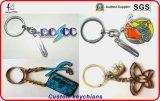 Nuovo metallo Keychain con il marchio su ordinazione 3D