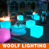 Plus de 300 Designs LED Bar Chairs LED Leisure Plastic Dining Chair Furniture