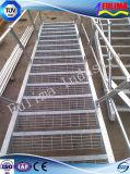 Angestrichenes oder galvanisiertes helles Stahlkonstruktion-Treppenhaus/Treppe für Gebäude (ST-003)
