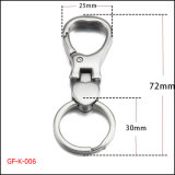 Large Lobster Clasp Keychain를 가진 우아한 Gift Stainless Steel Flat Split Ring