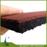 mattonelle di pavimentazione di gomma di spessore di 25mm per la stanza di forma fisica