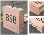 Bolsa de papel que hace compras impresa con insignia estampada caliente