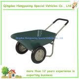 Wheelbarrow da maçaroqueira da jarda da HOME da roda dupla para o jardim (WB5405)