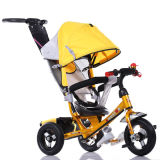 Miúdos do fabricante do carrinho de criança do triciclo do bebê livrados sobre com barra e pára-sol do impulso