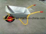 ガーナの市場およびヨーロッパWb6404hのための電流を通された皿が付いている頑丈な手押し車
