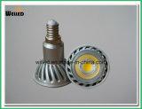 De LEIDENE van Dimmable Lichte Lamp 5W E14 COB/SMD van de Vlek