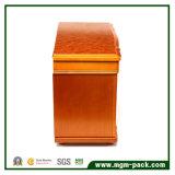 ミラーが付いている個人化された純木の収納箱