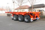 De Semi Aanhangwagen van uitstekende kwaliteit van de Container van het Skelet van het Staal 3axles