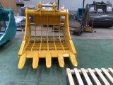 Cubeta do Dustpan da máquina Sk200 da máquina escavadora para a cubeta do esqueleto da venda