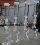 Qualidade superior Waterpipe de vidro com o braço Percs da árvore de Doulbe para a cor de fumo da mistura da loja