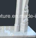 Естественный каменный новый самомоднейший камин Mrable с цветками (SY-MF125)
