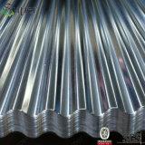 電流を通された波形鉄板シートか波形の金属の屋根ふきシート