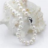 2016 collana d'argento della perla naturale del Choker 925 di figura del tasto