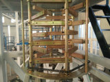 El PE del ABA máquina soplada de capa delgada del estirador de la película de la coextrusión de tres capas