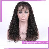 Париков человеческих волос парика человеческих волос верхнего качества связанный рукой парик шнурка оптовых дешевых полный с волосами младенца