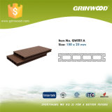 Decking oco da associação de WPC/assoalho composto plástico de madeira para ao ar livre