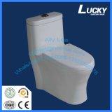 Um mercadoria sanitário Siphonic que nivela, preços cerâmicos chineses do toalete da parte de um toalete do Wc da parte, toalete chinês com preço barato
