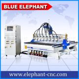 マルチスピンドル3D木製CNCのルーターの中国CNCのフライス盤