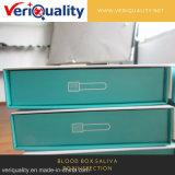 Caixa do sangue. Serviço da inspeção do QC da caixa do Saliva