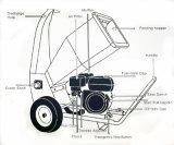 9HP neueste und Fabrik-direkte Cer-Bescheinigungs-hölzerne Chipper Maschine