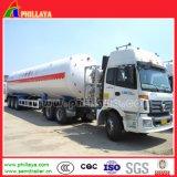 3台の半車軸トレーラーの交通機関が付いている52.6cbm液化天然ガスの貯蔵タンク