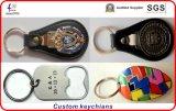 Nuevo metal Keychain con la insignia de encargo 3D