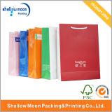 Bolso de compras colorido del papel de la maneta del ANG de la talla de la diferencia (QY150040)