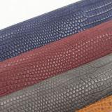 Eco bereift Handtaschen-Materialien PU-synthetisches Leder mit Krokodil-Eidechse-Beschaffenheit