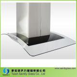 L'impression d'écran en soie a gâché la glace incurvée par glace de capot de gamme pour le capot de chaîne de cuisine